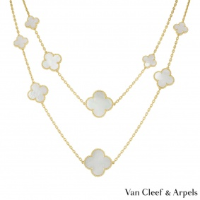 Van Cleef & Arpels Yellow Gold Magic Alhambra Necklace VCARD79300